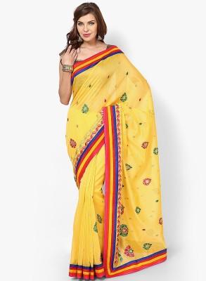 Avishi Applique Banarasi Handloom Chanderi Sari