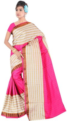 nimi fashion Printed, Self Design, Floral Print Fashion Handloom Georgette Sari
