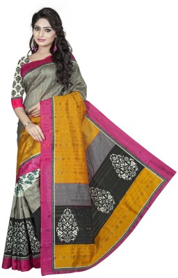 Izaa Fashion Printed Bhagalpuri Cotton Sari