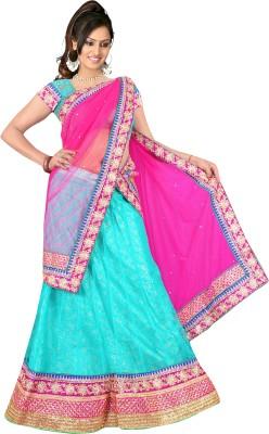 Winza Embellished, Embriodered, Plain, Self Design, Solid Bollywood Jacquard, Net Sari