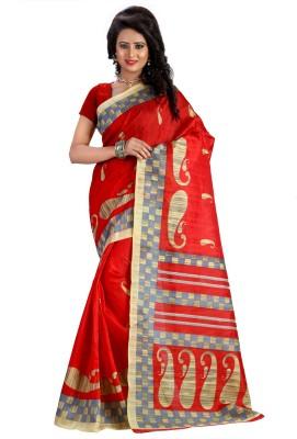 Kalika Printed Bhagalpuri Cotton Linen Blend Sari