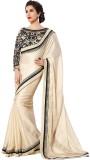 3NH Solid Fashion Georgette Saree (Beige...