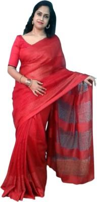 Shreet fashion Plain Fashion Polycotton Sari