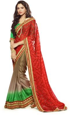 Morli Self Design Fashion Georgette Sari