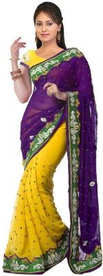 Radhe Krishna Creation Embriodered Fashion Chiffon Sari