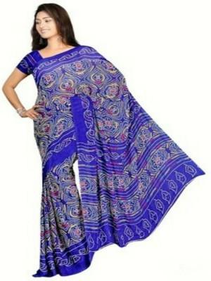 Roop Nikhar Sarees Self Design Bandhani Georgette Sari