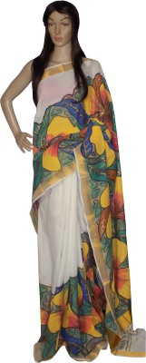 KheyaliBoutique Hand Painted Balarampuram Cotton Sari