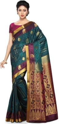 Pratamika Floral Print Fashion Handloom Art Silk Sari