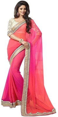 Gergstore Embriodered Bollywood Georgette Sari