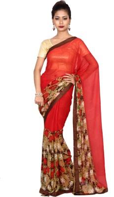 Arisidh Floral Print Fashion Georgette Sari
