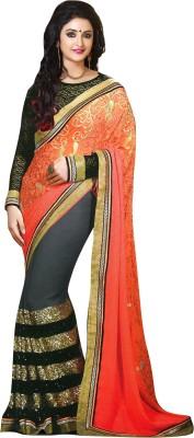 Greshadesigner Embriodered Fashion Handloom Georgette Sari