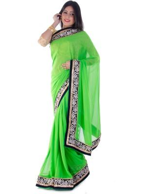 Aryya Solid Fashion Chiffon Sari