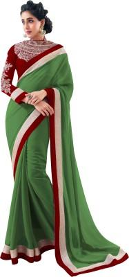 NARAYANA Self Design Bollywood Georgette Sari