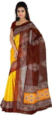 Sarovar Sarees Self Design Bhagalpuri Handloom Art Silk Sari