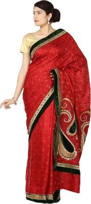 Zain Textiles Woven Banarasi Jacquard Sari