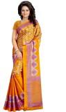Kalika Floral Print Fashion Art Silk Sar...