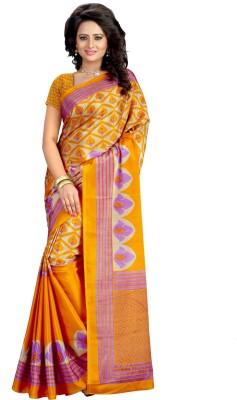 Kalika Floral Print Fashion Art Silk Sari