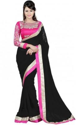 The Core Fashion Embriodered Fashion Chiffon Sari