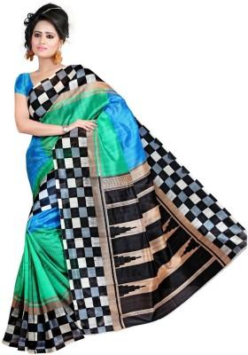 Araja Printed Bhagalpuri Cotton Sari