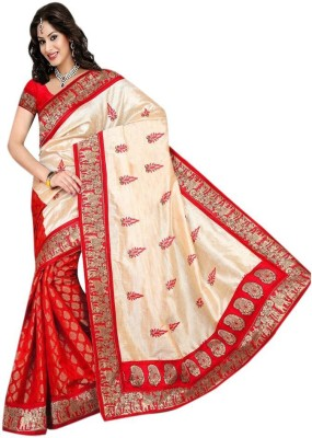 Bollywood Designer Solid Fashion Silk Sari