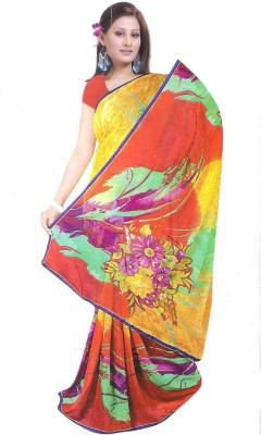 Asha Printed Daily Wear Handloom Chiffon Sari