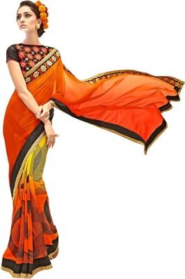 Bharti Prints Floral Print Fashion Chiffon Sari