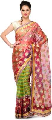 Sspk Self Design Fashion Tissue Sari