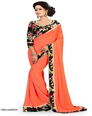 ambey shree trendz Self Design Madurai Georgette Sari