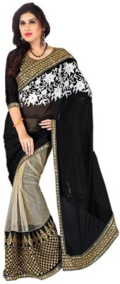 Lovit Self Design Bollywood Chiffon Sari