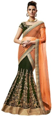 Nakashi Embriodered Fashion Net, Velvet Sari