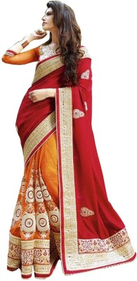 Nairiti Fashions Embriodered Fashion Net Sari