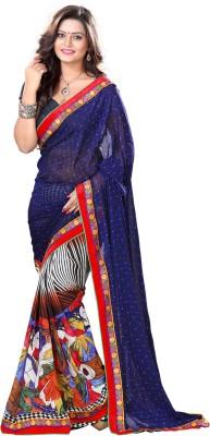 MatindraEnterprise Printed Fashion Handloom Chiffon Sari