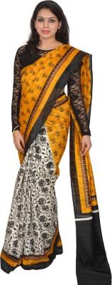 AtiGrens Floral Print Bhagalpuri Art Silk Sari