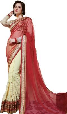 Ethnic Point Embriodered Fashion Banarasi Silk Sari