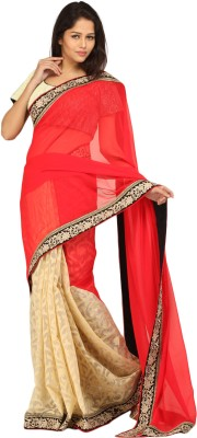 Charming Embellished Fashion Georgette Sari