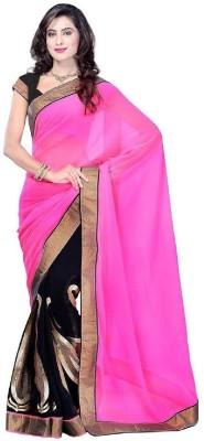 Rohini Fashion Solid Fashion Pure Georgette Sari
