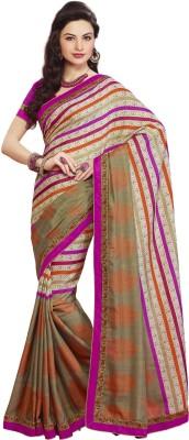 Aesha Striped Fashion Tussar Silk Sari