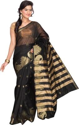 Pavechas Printed Banarasi Cotton, Silk Sari