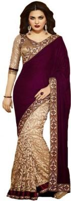 Kalaniketanfashion Embriodered Bollywood Velvet Sari