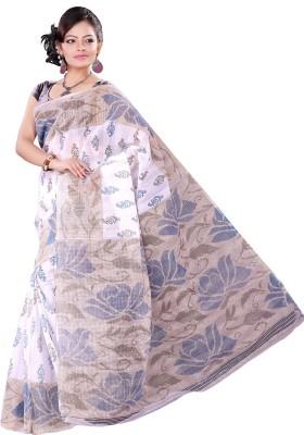 Vastrakala Floral Print Fashion Cotton Sari