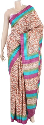 BEAUVILLE VAIIBAVAM Printed Fashion Tussar Silk Sari