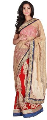 Jugniji Plain Fashion Handloom Net Sari