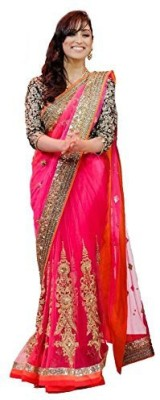 Gamthi Ethics Embriodered Daily Wear Chiffon Sari