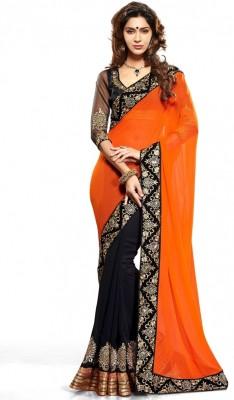 Styloce Self Design Fashion Georgette Sari