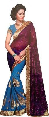 fashion square Self Design Fashion Georgette Sari