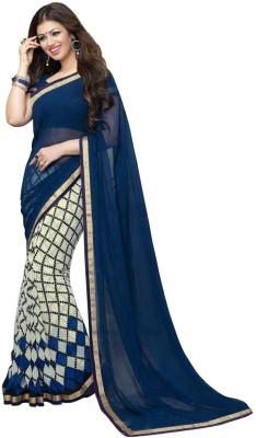 Morpankh Enterprise Floral Print Bollywood Georgette Sari
