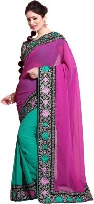 Khodal Fashion Embriodered Bollywood Georgette Sari
