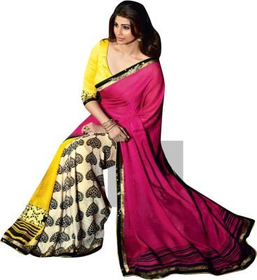 Triveni Striped Fashion Georgette Sari