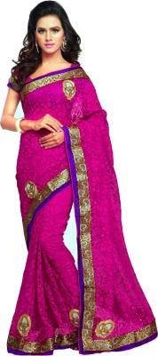Aruna Sarees Self Design Bollywood Handloom Net, Brasso Sari