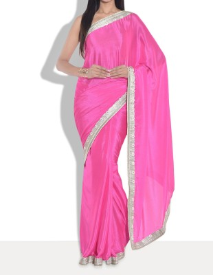 Parmar Design Self Design Bollywood Chiffon Sari